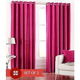 Set of 2 Sweet Home Pink Door Curtains at Rs 299 Only