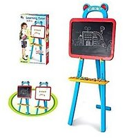 Kids Drawing And Magnetic Board Learning Easel With Magnetic Alpha Numeric Set