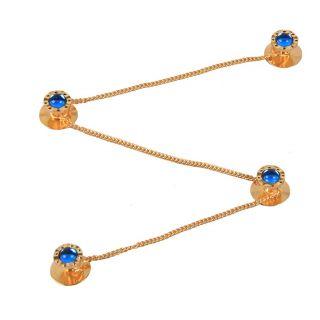 Jstarmart Fashion Blue Kurta Button For Men JSMFHMA0262