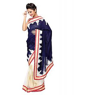 Vismit Crepe Georgette Sarees Exclusive For Beautiful Women In Multicolor