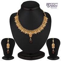 Sukkhi Eye-Catchy Gold Plated Multicoloured Goddess Laxmi Necklace Set
