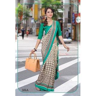 sangam saree womens designer light rama  silk print official wear saree