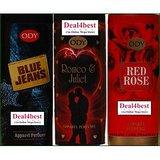 A Set Of 3 ODY (JOY COSMETICS) Perfumes (Rose,Blue Lady,Gold Sandal)