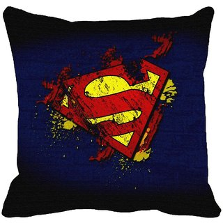 Blue Superman Digitally Printed Cushion Covers