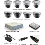 Hikvision CCTV Set Of 8 Camera And 1 TB HDD With All Accessories