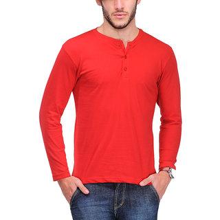 TSX Stylish Henley Full Sleeve T-Shirt for Men