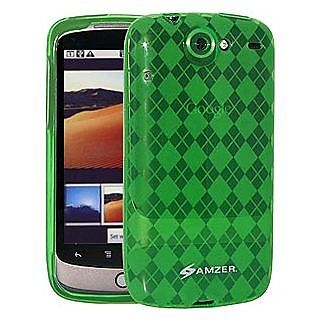 Amzer 86669 Luxe Argyle Skin Case - Green for Google Nexus One PB99100