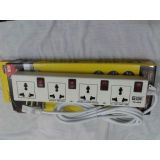 T-Zone Surge Protector 4 Socket Individual Switch Power Extension Cord 2.5 Mtr