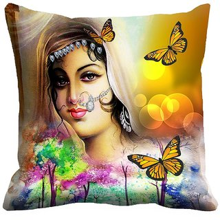 Graceful meSleep Queen Digitally Printed Cushion Cover (16x16)