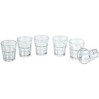 PC Water Glass Wavy 220ml - Unbreakable (Set of 6)