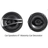 """Combo Of Car 4"""" Speakers +pp Cone + FREE DVD Holder + Warranty"""
