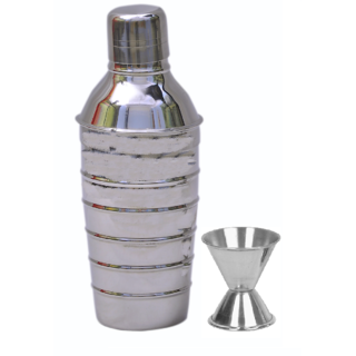 2 piece Bar set - Ring cocktail shaker and peg measure