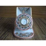 Marble Mobile Holder With Clock