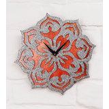 Zeeshaan Floral Pattern (Pure Copper Leaf Base)