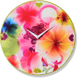 Zeeshaan Flower Print 2 (Pink & Yellow) Wall Clock