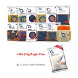 Sahara Q Shop Mix Spice Combo Offer (Pack of 18) & 1 Kg Sugar Free