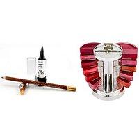 Ladyhood Lipgloss Palette Tempting + Ads Lipliner And Eyeliner + Ads Kajal