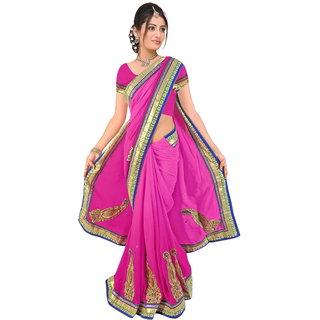 Siffon Sarees (Pink)
