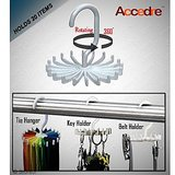 Accedre Rotating Tie/Belt/Keyring Adjustable Rack/Hanger/Organizer-Set Of 2