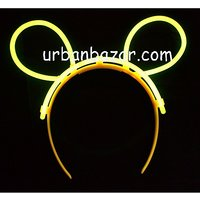 Neon Glow Head Bunny Hair Band Assorted Colors - Perfect Gift This NewYear Party