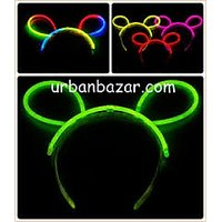 Neon Glow Head Bunny Hair Band (Pack Of 5pcs) - Perfect Gift This NewYear Party
