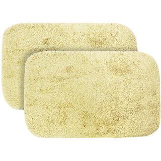 Just Linen Pair of Multipurpose Beige Cotton Floor Mats