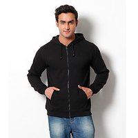 Weardo Black Hooded Sweatshirt (Design 1)