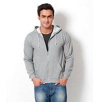 Weardo Grey Hooded Sweatshirt (Design 1)
