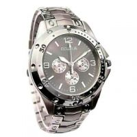 Rosra Round Dial Silver Metal Strap Mens Quartz Watch