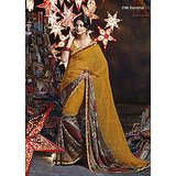 Aashi Light Brown Georgette  Printed Saree (Design 7)