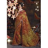 Aashi Light Brown Georgette  Printed Saree