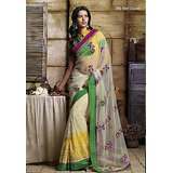 Aashi Off White Net Embroidered Saree