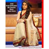 Aashi Bollywood Replica Cream Net  Saree with Maroon Velvet Blouse