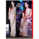 Aashi Bollywood Replica White Net  Saree with Red Dupian Blouse