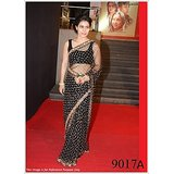 Aashi Bollywood Replica Black Net Saree with Black Rowsilk Blouse