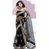 Aashi Bollywood Replica Black Net  Saree with Black Dupian Blouse