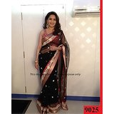 Aashi Bollywood Replica Black Net  Saree with Red Dupian Blouse