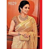 Aashi Bollywood Replica Cream Net  Saree with Cream Dupian Blouse