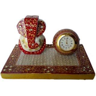 Marble Ganesha  Clock (AAGDS030)