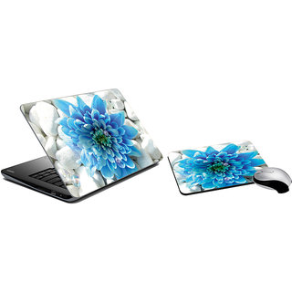 meSleep Flower Laptop Skin And Mouse Pad