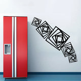 Square Illusion Wall Decal-Small