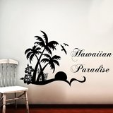 Hawaiian Paradise Wall Decal-Medium