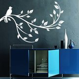Bird On A Branch Wall Decal-Small