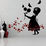 Love For Flowers Wall Decal-Small