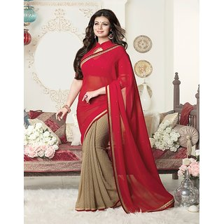 VinayTM Ayesha Takia 16266 Saree with Blouse Piece Red