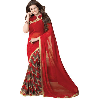 VinayTM Ayesha Takia 16268 Saree with Blouse Piece Red