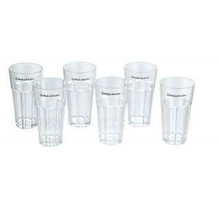 PC Water Glass Wavy 400ml - Unbreakable (Set of 6)