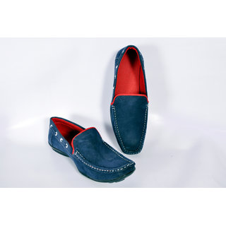 MENZONI Mens Blue Loafers