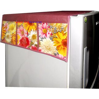 Goldcave Floral Design Fridge Top Cover (Assorted Color)