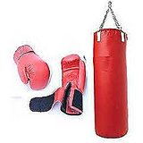 36 Inch Boxing P.u Leather Kit Bag With Free Boxing Gloves